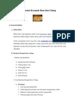 Pembuatan Kerupuk Ikan Dan Udang
