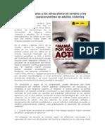 Los malos tratos a los niños predispone adultos violentos
