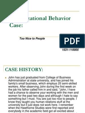 Too nice to people | Organizational Behavior | Motivation