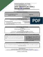 Edital Vestibular UECE 2009.1
