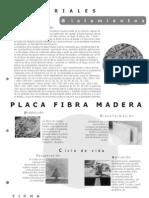Ficha Placa Fibra Madera