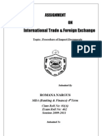 International Trade & Forx Asssignmnt