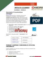 Toner original para Kyocera Mita FS - 1116MFP