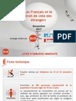 Les Français et le droit de vote des étrangers