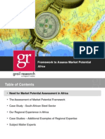 Grail Research Assessment of Market Potential Framework Africa