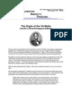 Origin of the Motto of the VA