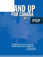 334166 Conservative Party of Canada Federal Election Platform 2006