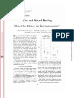 Zinc and Wound Healing