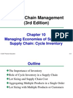 Chapter 10 Cycle Inventory