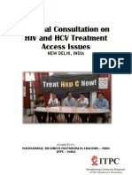 National Consultation on HIV and HCV Treatment Access Issues REPORT