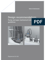 Pump and Pipe Mechanical Installation Guidelines
