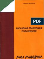 Mos Maiorum Rivoluzione Tradizionale E Sovversione (eBook Ita Evola Tradizione