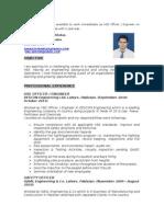 SheraZ HSE CV