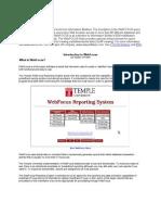 Introduction to WebFocus