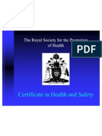 Certificate in Health and Safety