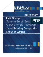 TSX Listed Mining Companies in Africa 2011