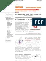 Como Construir Su Propia Celula Solar