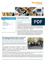 Second edition of East Invest newsletter