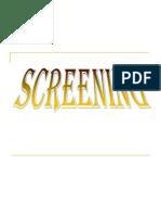 Screening (Ayakan)