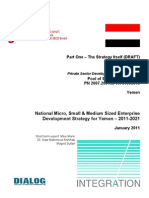 National Micro, Small & Medium Sized Enterprise Development Strategy for Yemen – 2011-2021 January 2011