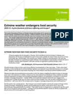 Extreme weather endangers food security worldwide