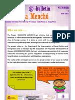 Bulletin Rigoberta Menchu Number 1_English