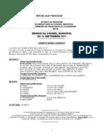 Compte-rendu de la séance du 2011-09-14