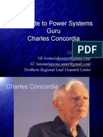 A Tribute to Power Systems Guru - Charles Concordia
