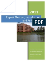 Report Abstract, Introduction and References