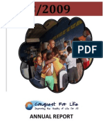 Conquest for Life Annual Report 2009