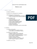 2012 Remedial Law SYLABUS