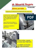 Flash SéCurité Projets Flash SéCurité Projets Incident téléPhone Portable