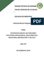 Psicopatología de las funciones ejecutivas