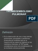 Tromboembolismo Pulmonar Expo!
