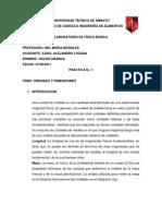 Unidades y Dimensiones OSCAR