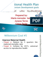 The National Health Plan (the 8 Millennium Goal)
