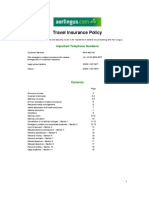 Policy Wording and Cover