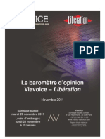 Viavoice Libération  Novembre 2011
