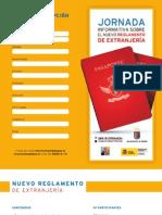 Programa de la 'Jornada informativa sobre el nuevo reglamento de extranjería' (Badajoz 2011)