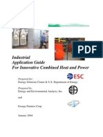Industrial Application Guide for Innovative Combined Heat and Power; EEA Energy and Environmental Anaylsis and Exergy Partners Group, Jan'2004