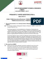 KJ SOMAIYA FAQ2012