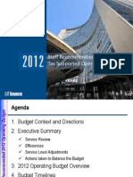 2012 Toronto Budget Draft