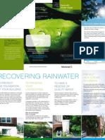 Canada; Recovering Rainwater - Montreal