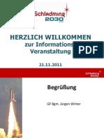 Informationsveranstaltung Schladming 2030 GmbH 21.11.2011 Stadtsaal Schladming PDF
