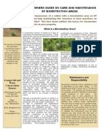 Ohio; Homeowners Guide on Care and Maintenance of Bioretention Areas (Rain Gardens) - Geauga SWCD