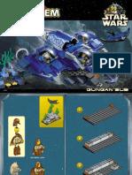 LEGO Gungan Sub Instruction Manual 7161