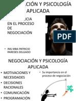 NEGOCIACIÓN Y PSICOLOGÍA APLICADA