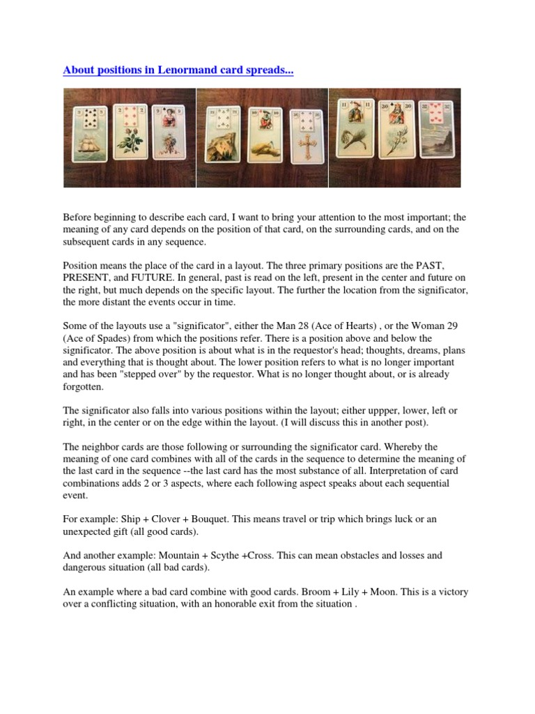 Lenormand card meanings combinations gilded reverie lenormand card