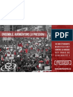 Affiche Post-Manifestation nationale FECQ