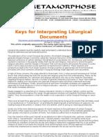 Keys for Interpreting Liturgical Documents